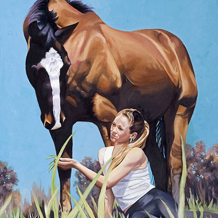 Equestrian Oil Painting 'Jessica' by Doreen Irwin