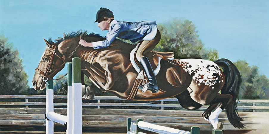 Equestrian Oil Painting 'Mr. Appee' by Doreen Irwin