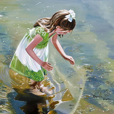 Oil Painting Portrait 'Wonders in the Water' by Doreen Irwin